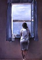 By the Window she Waits