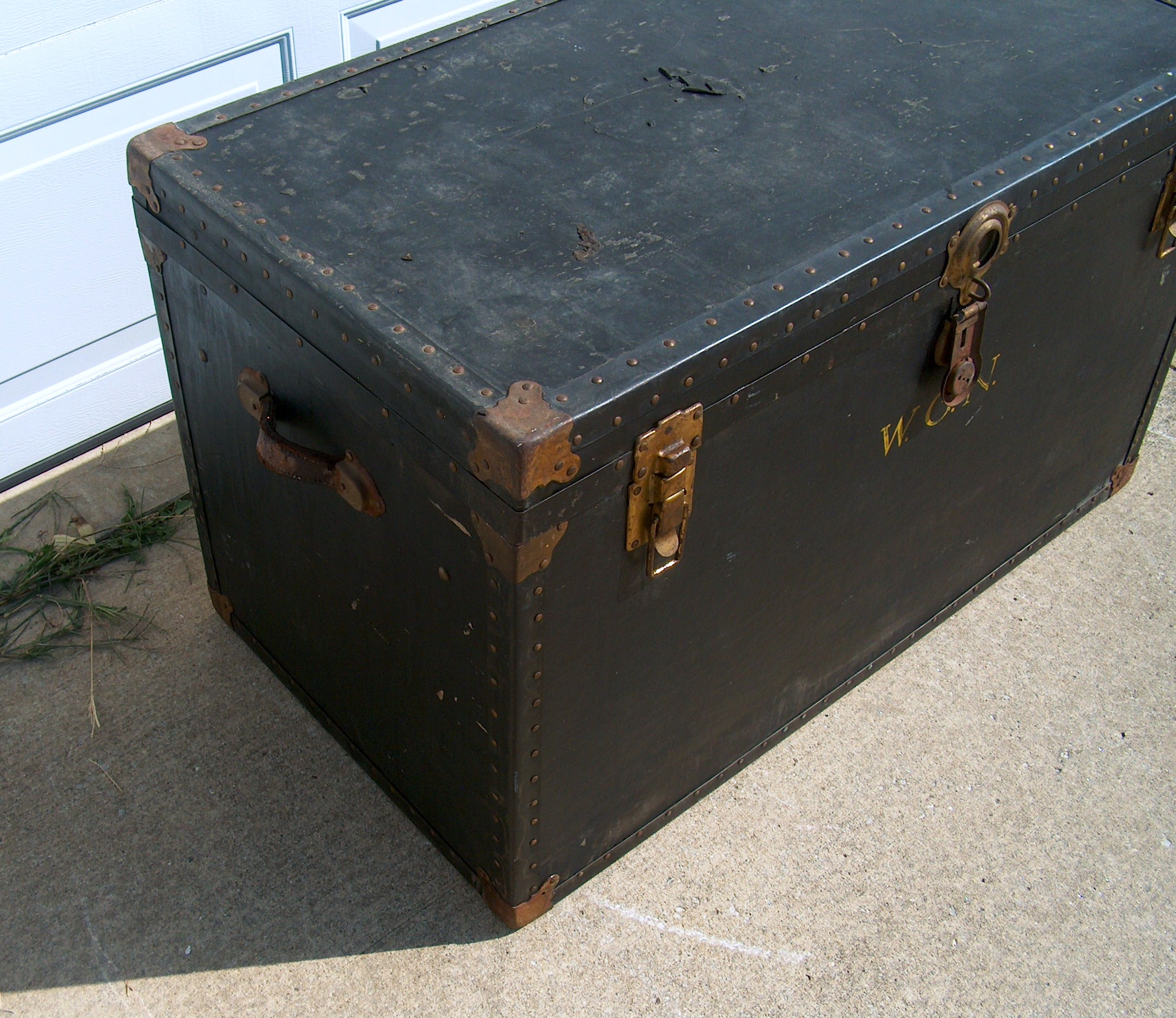 African American Steamer Trunk title=