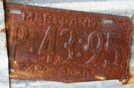 Old Car Tag