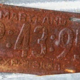 Old Car Tag